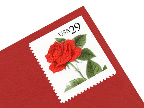 29¢ Red Rose - 18 Stamps
