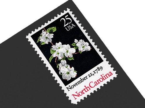25¢ North Carolina Statehood - 25 Stamps