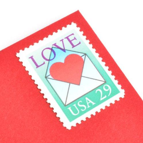 29¢ Love Heart Envelope - 25 Stamps