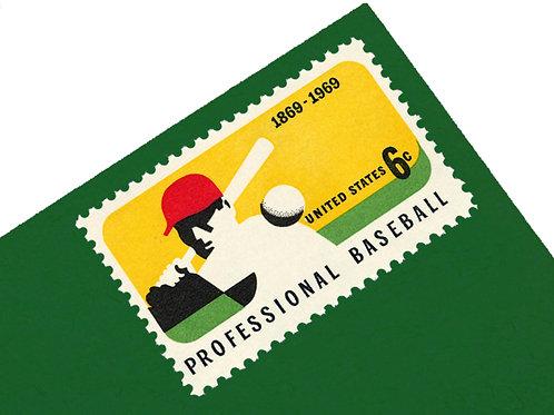 6¢ Professional Baseball - 25 Stamps