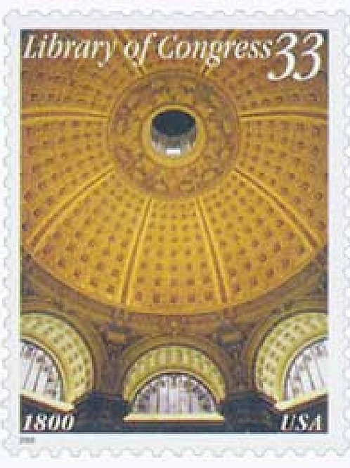 Pack of 20 Unused Library of Congress Stamps - 33c - 2000 - Unused Vintage