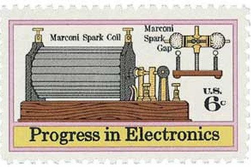 Pack of 25 Unused Progress in Electronics Postage Stamps - 6c - Vintage 1973
