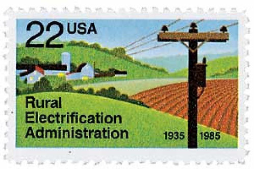Pack of 25 Unused Rural Electrification Administration - 22c - 1985 - Unused
