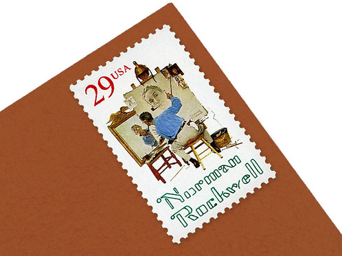 29¢ Norman Rockwell - 25 Stamps