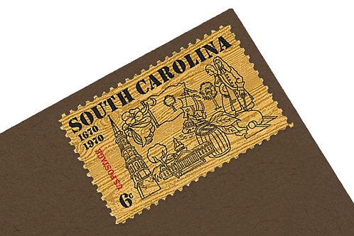 6¢ South Carolina - 25 Stamps