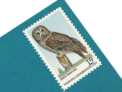 15¢ Owls - 25 Stamps