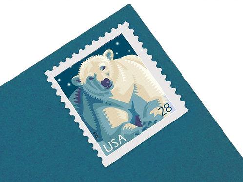 28¢ Polar Bear - 20 Stamps