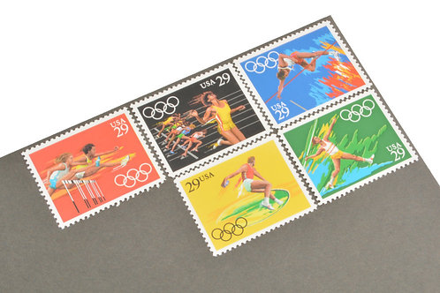 29¢ Summer Olympics Track & Field - 25 Stamps