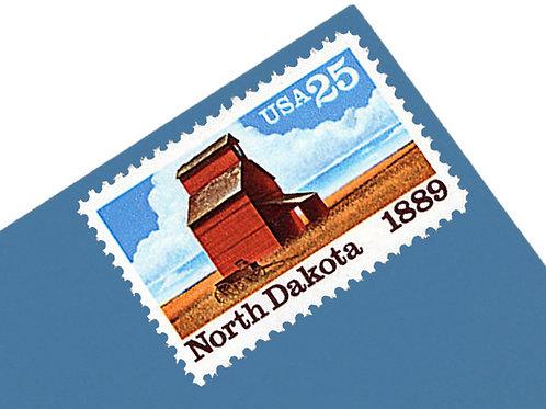 25¢ North Dakota - 25 Stamps