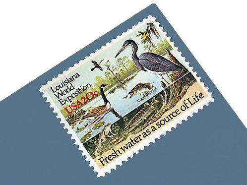 Pack of 25 Unused Louisiana World Exposition Stamps - 20c - 1984 -Unused Vintage