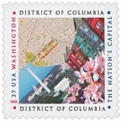 20 District of Columbia Stamps - 37c - Unused Postage - Quantity of 20