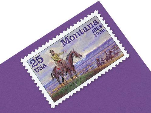 25¢ Montana Statehood - 25 Stamps