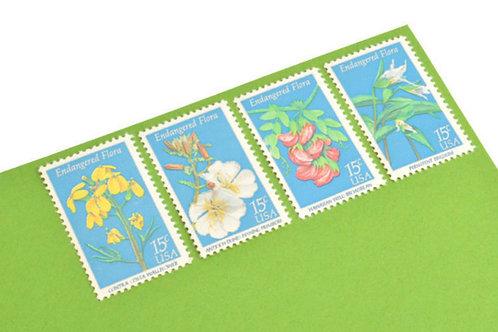 15¢ Endangered Flora - 25 Stamps