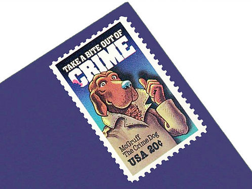 Pack of 25 Unused McGruff Crime Prevention Stamps - 20c - 1984 - Unused Vintage
