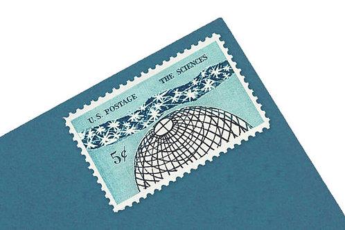Pack of 25 Unused Science Stamps - 5c - Vintage 1963 - Unused Postage