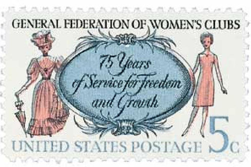Pack of 25 Unused General Federation of Woman's Clubs - 5c - 1966 - Vintage Post