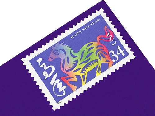 34¢ Chinese New Year of the Horse - 20 Stamps