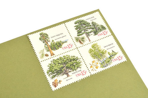 15¢ American Trees - 25 Stamps