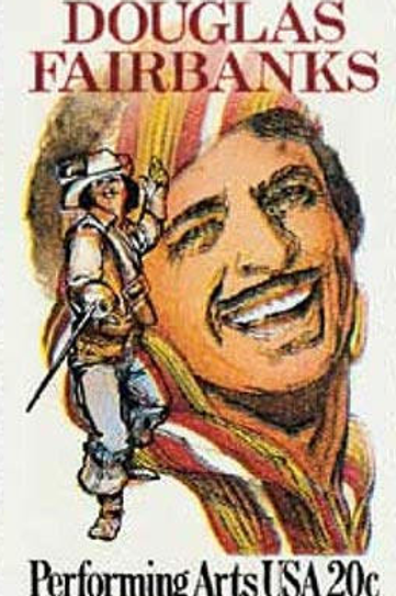 Pack of 25 Unused Douglas Fairbanks Stamps - 20c - 1984 - Vintage Postage