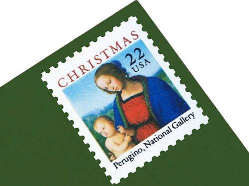 Pack of 25 Unused Madonna and Child Stamps - 22c - 1986 - Unused Vintage Postage