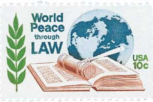 Pack of 25 Unused World Peace through Law - 10c - 1975 - Unused Vintage Postage