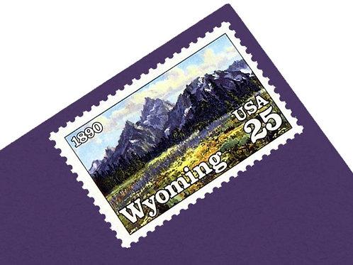 25¢ Wyoming Statehood - 25 Stamps