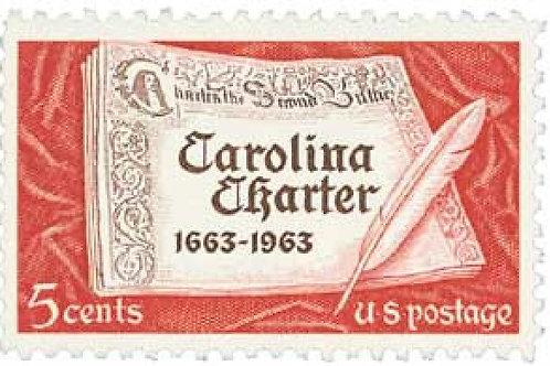 Pack of 25 Unused Carolina Charter - 5c - 1963 - Unused Vintage Postage