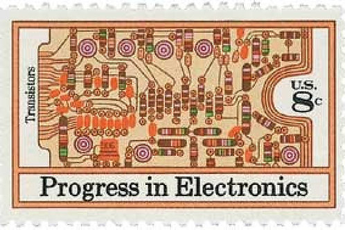 Pack of 25 Unused Progress in Electronics Postage Stamps - 8c - Vintage 1973