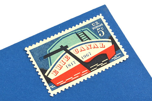 5¢ Erie Canal Boat - 25 Stamps