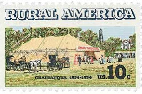 25 Rural America Chautauqua Tent Centennial Stamps - 10c - Unused Postage
