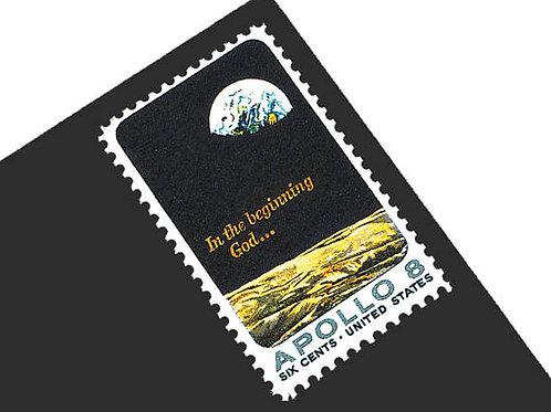 Pack of 25 Unused Apollo 8 Stamps - 6c - Vintage from 1969 - Unused Postage