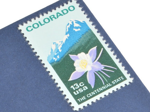 13¢ Colorado Statehood - 25 Stamps