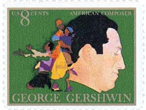 Pack of 25 Unused George Gershwin Stamps - 8c - 1973 - Unused Vi
