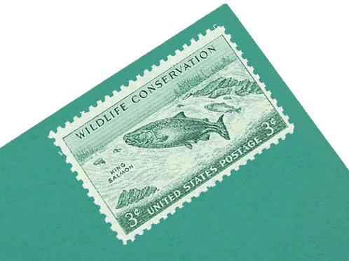 3¢ King Salmon - 25 Stamps