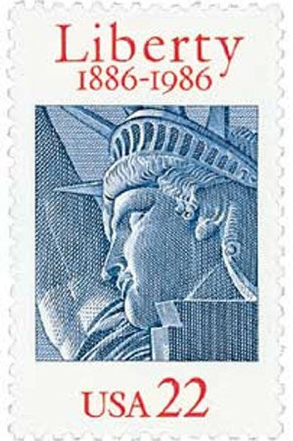 Pack of 25 Unused Statue of Liberty Centennial - 22c - 1986 - Vintage Postage