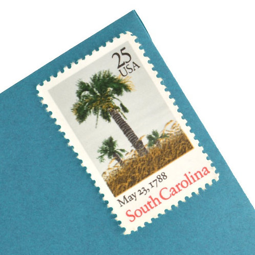 25¢ South Carolina - 25 Stamps