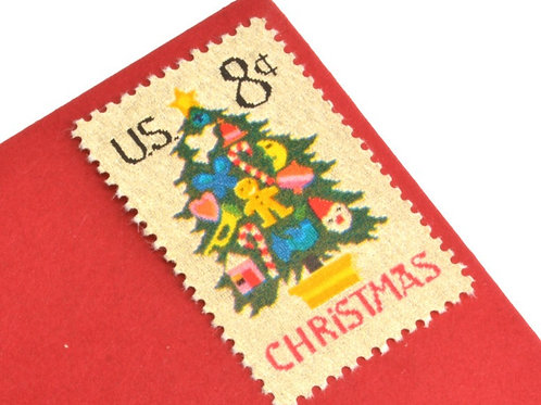 8¢ Christmas Tree Needlepoint - 25 Stamps
