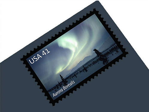 Pack of 20 Unused Polar Lights Stamps - 41c - Unused Vintage Postage
