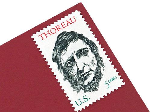 5¢ Henry David Thoreau - 25 Stamps