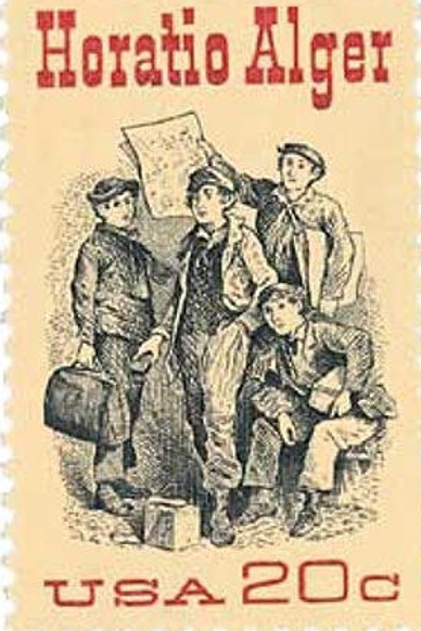 25 Horatio Alger Postage Stamps - 20c - 1982 - Unused - Quantity of 25
