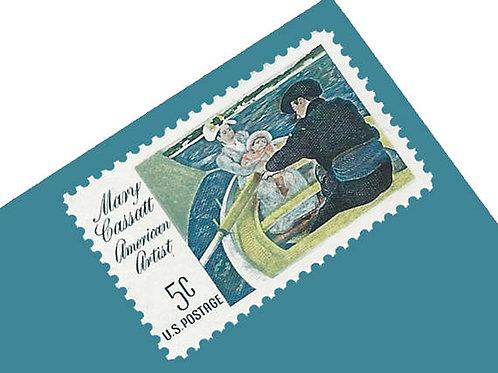 Pack of 25 Unused Mary Cassatt Stamps - 5c - 1966 - Unused Vintage