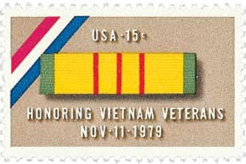 25 Vietnam Veterans Postage Stamps - 15c - Vintage 1979 - Unused