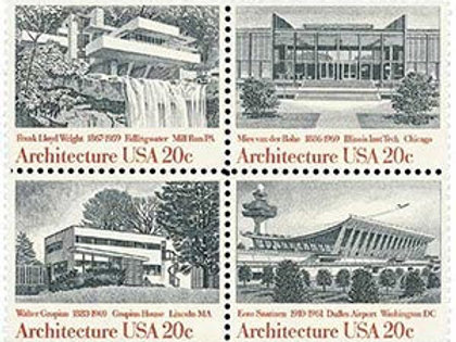 Pack of 24 American Architecture Stamps - 20c - Vintage unused postage from 1982