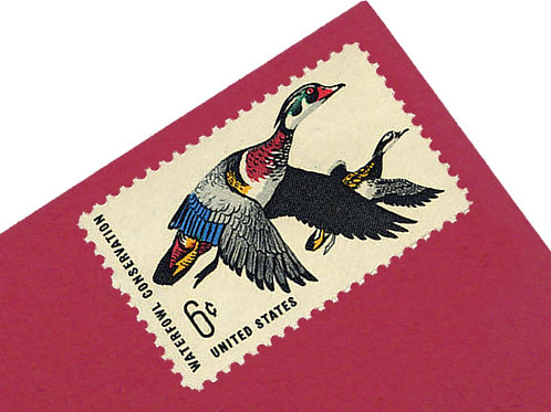 6¢ Waterfowl Conservation Duck - 25 Stamps