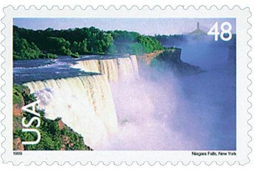 Pack of 20 Unused Niagara Falls Stamps - 48c - Unused Vintage Postage