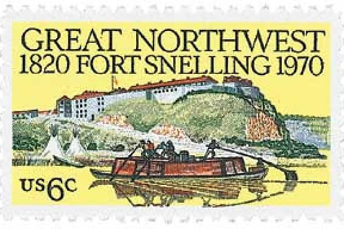 Pack of 25 Unused Fort Snelling Stamps - 6c - 1970 - Unused Vintage Postage