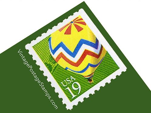 Pack of 20 Hot Air Balloon Stamps - 19c - 1991 - Unused Vintage Postage