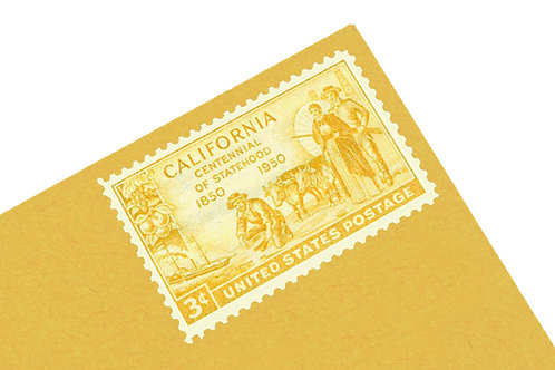 3¢ California Centennial - 25 Stamps