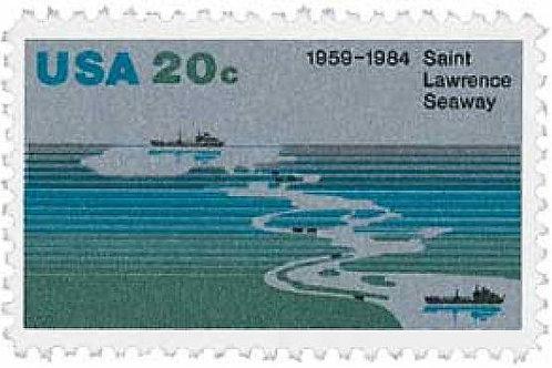Pack of 25 Unused St. Lawrence Seaway Postage Stamps - 20c - Vintage 1984