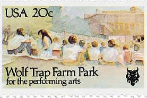 20 Wolf Trap Farm Park Postage Stamps - 20c - 1982 - Unused - Quantity of 20